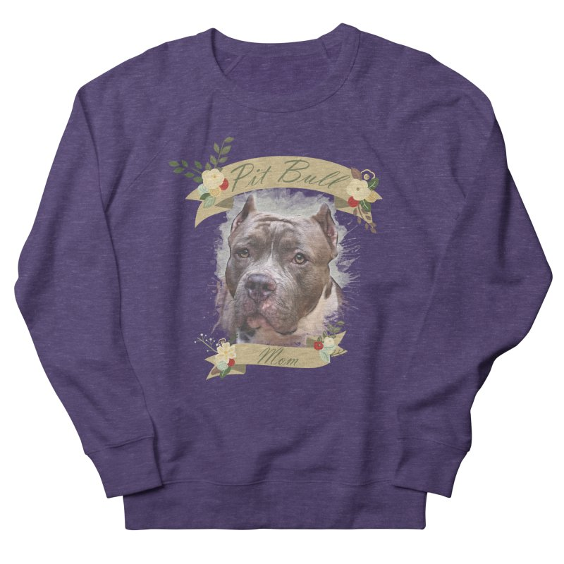 Pit Bull Mom 2 Women's French Terry Sweatshirt by Andy's Paw Prints Shop