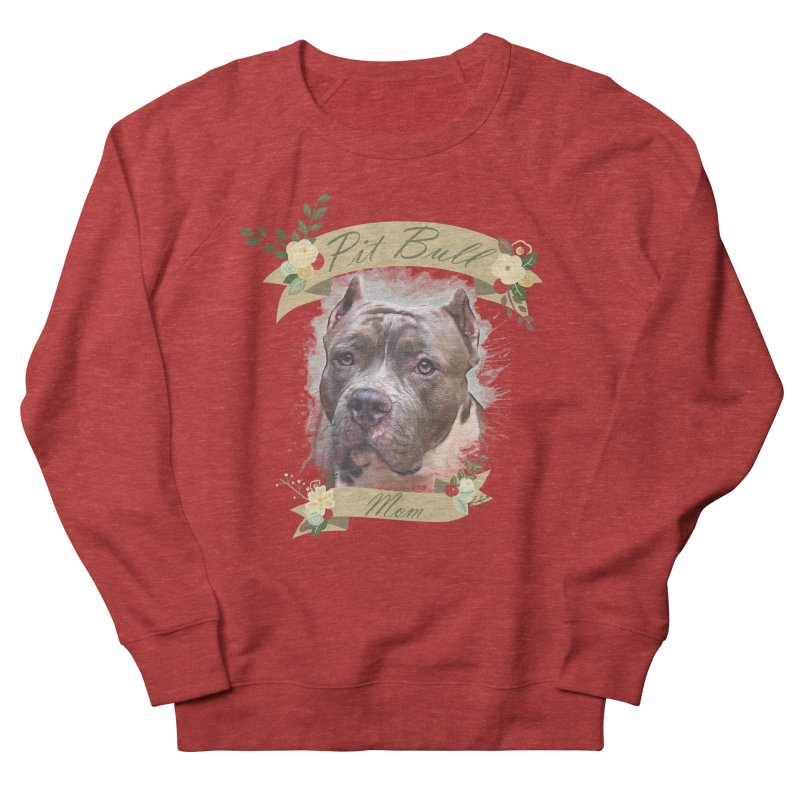 Pit Bull Mom 2 Women's Sweatshirt by Andy's Paw Prints Shop