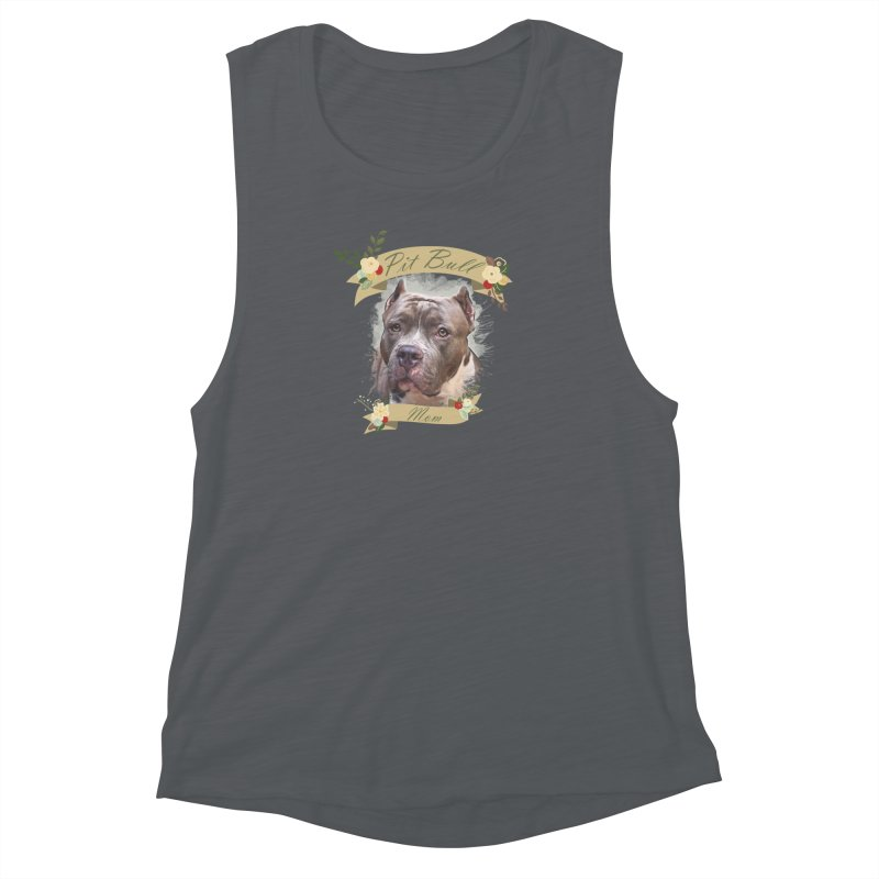 Pit Bull Mom 2 Women's Muscle Tank by Andy's Paw Prints Shop