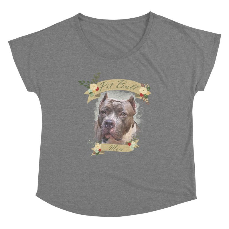 Pit Bull Mom 2 Women's Scoop Neck by Andy's Paw Prints Shop