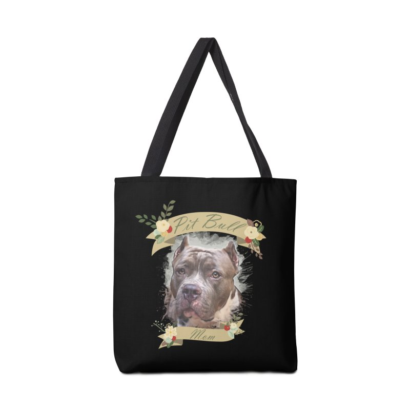 Pit Bull Mom 2 Accessories Tote Bag Bag by Andy's Paw Prints Shop