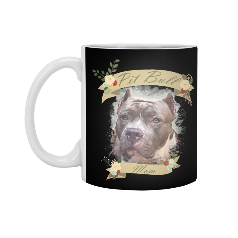 Pit Bull Mom 2 Accessories Standard Mug by Andy's Paw Prints Shop