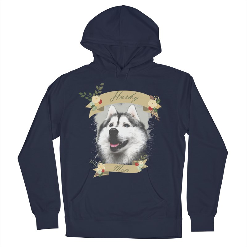 Husky Mom Men's Pullover Hoody by Andy's Paw Prints Shop