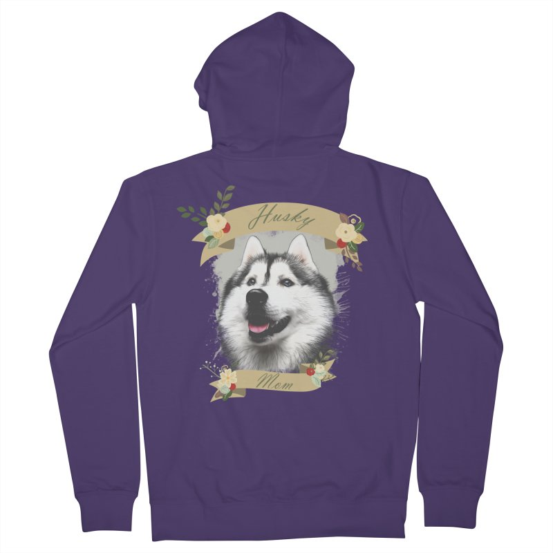 Husky Mom Women's Zip-Up Hoody by Andy's Paw Prints Shop