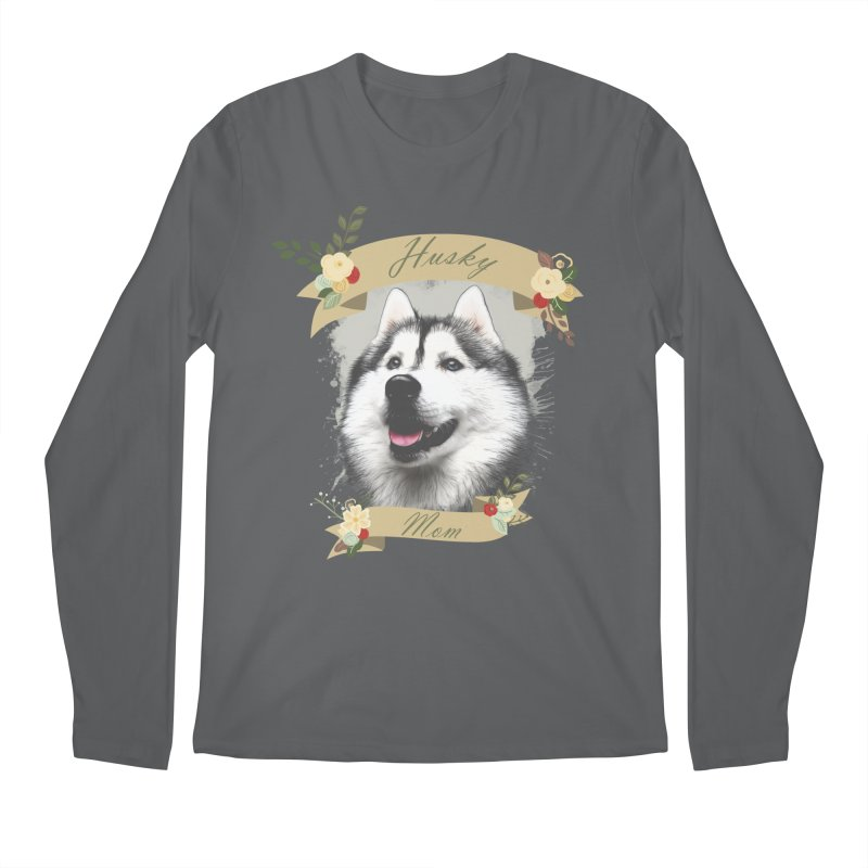 Husky Mom Men's Longsleeve T-Shirt by Andy's Paw Prints Shop