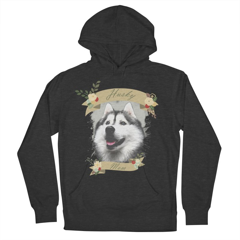 Husky Mom Women's French Terry Pullover Hoody by Andy's Paw Prints Shop