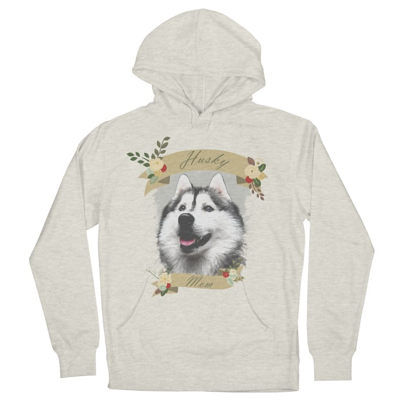 Husky Mom Men's French Terry Pullover Hoody by Andy's Paw Prints Shop