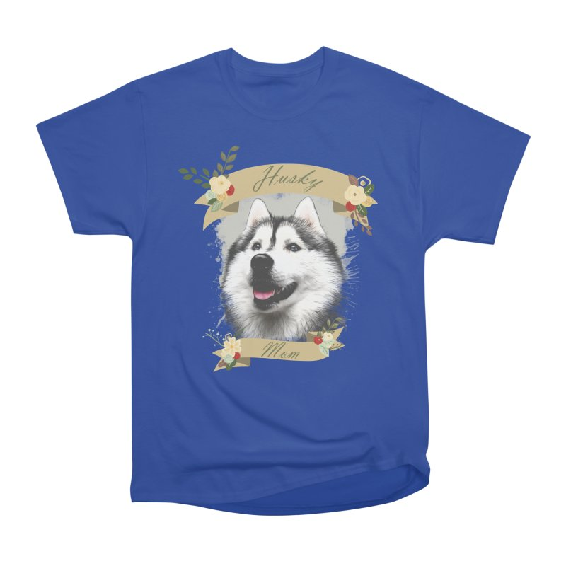 Husky Mom Women's Heavyweight Unisex T-Shirt by Andy's Paw Prints Shop
