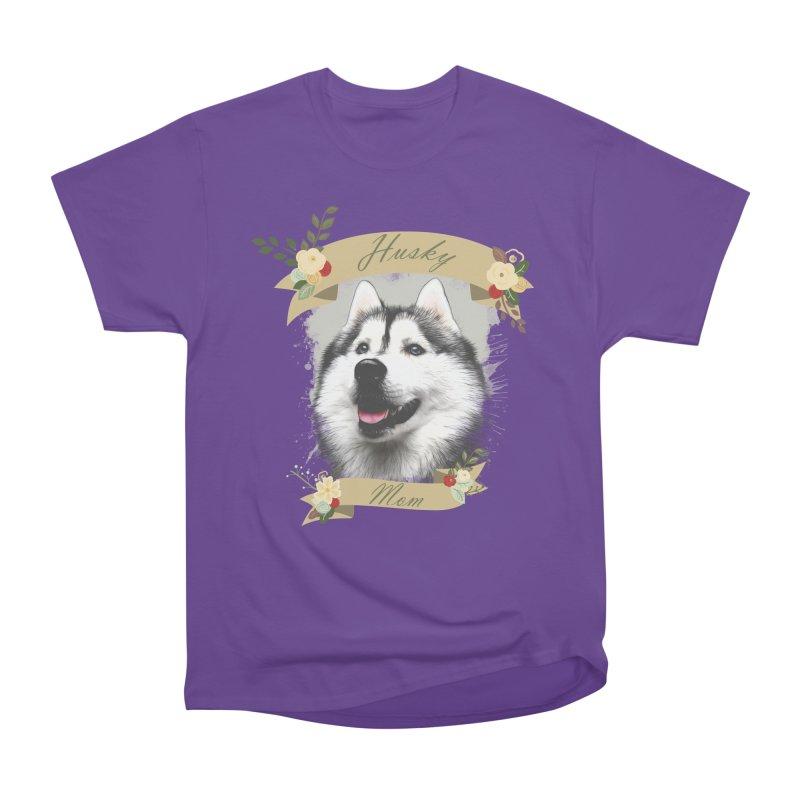 Husky Mom Men's Heavyweight T-Shirt by Andy's Paw Prints Shop