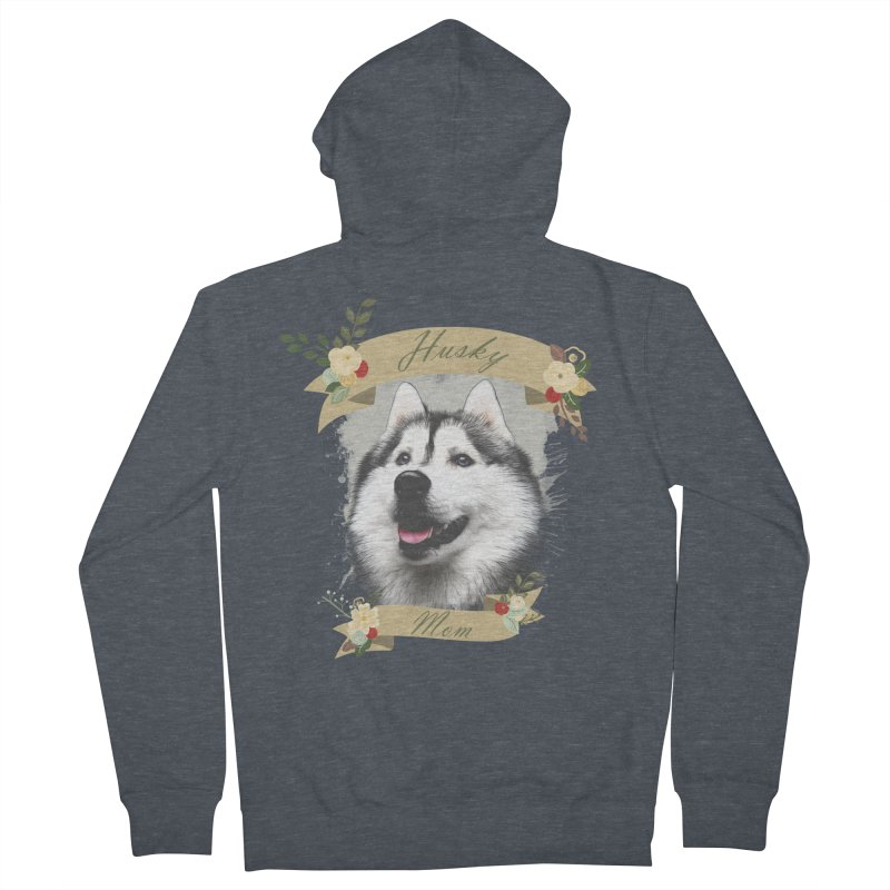 Husky Mom Women's French Terry Zip-Up Hoody by Andy's Paw Prints Shop