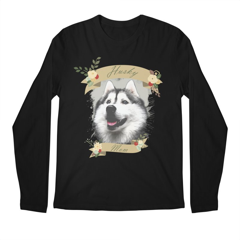 Husky Mom Men's Regular Longsleeve T-Shirt by Andy's Paw Prints Shop
