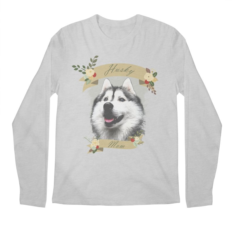 Husky Mom Men's Regular Longsleeve T-Shirt by Andy's Paw Prints Shop