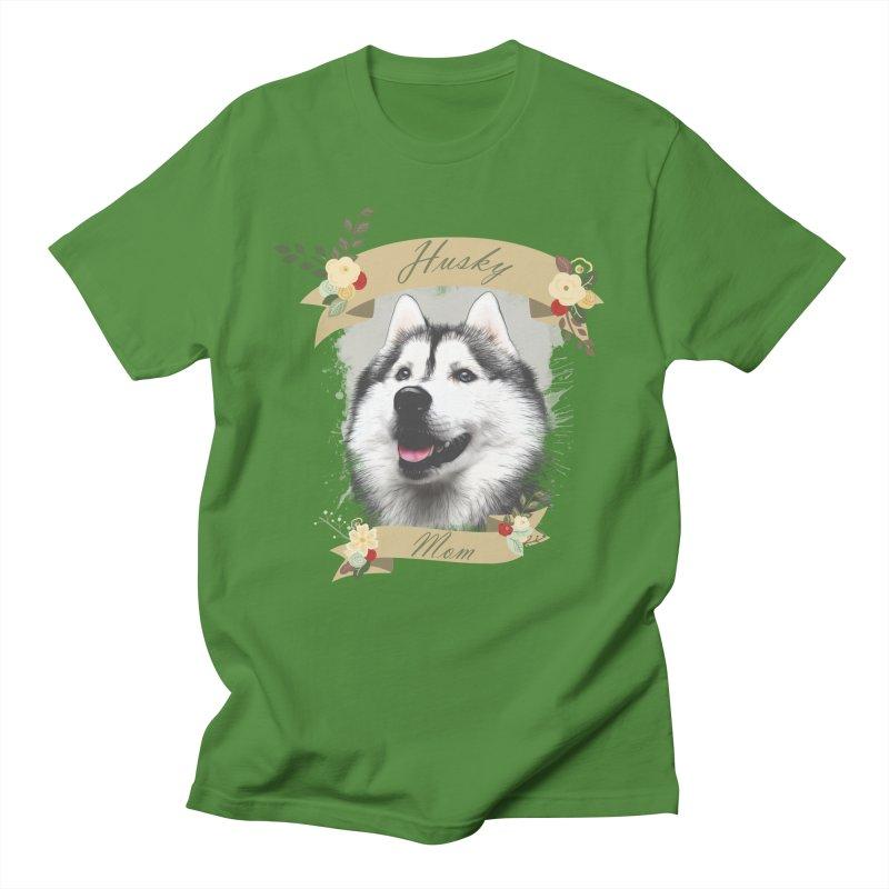 Husky Mom Women's Regular Unisex T-Shirt by Andy's Paw Prints Shop