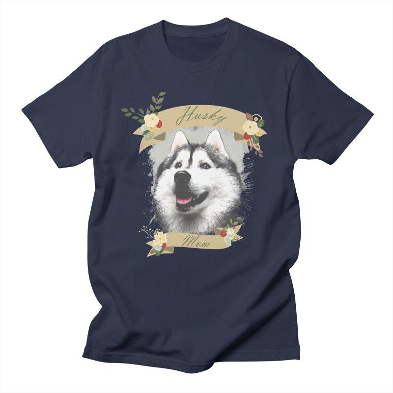 Husky Mom Men's Regular T-Shirt by Andy's Paw Prints Shop
