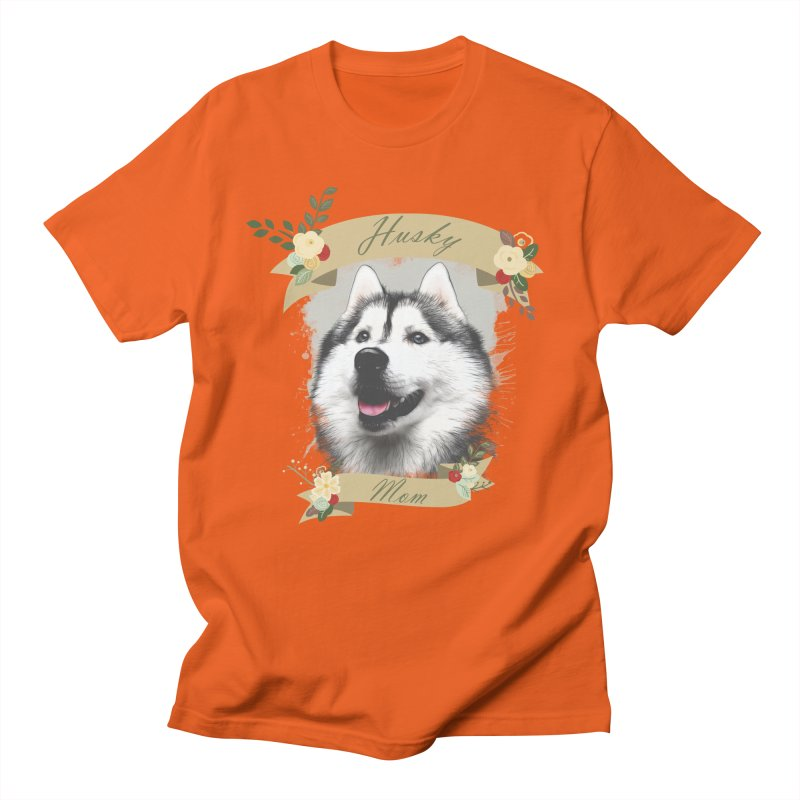 Husky Mom Women's Regular Unisex T-Shirt by Andy's Paw Prints Shop