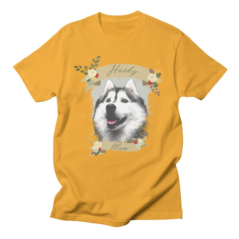 Husky Mom Men's Regular T-Shirt by Andy's Paw Prints Shop