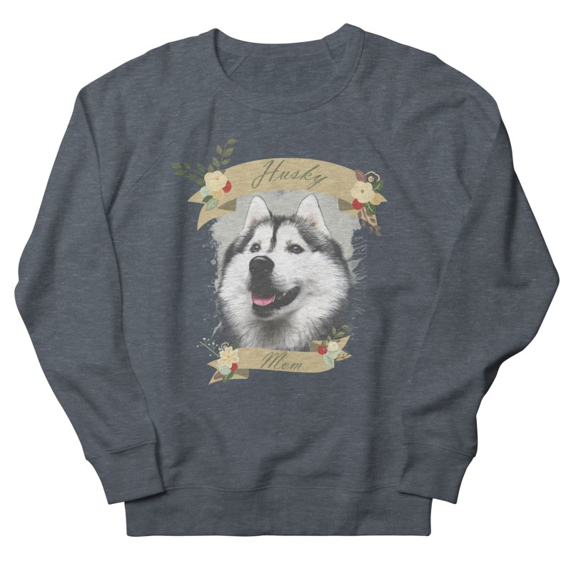 Husky Mom Men's Sweatshirt by Andy's Paw Prints Shop