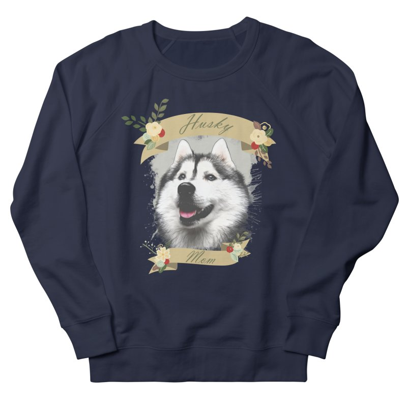Husky Mom Men's French Terry Sweatshirt by Andy's Paw Prints Shop