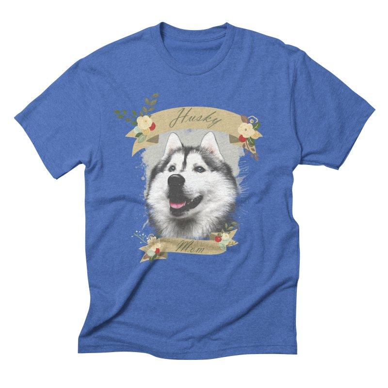 Husky Mom Men's Triblend T-Shirt by Andy's Paw Prints Shop