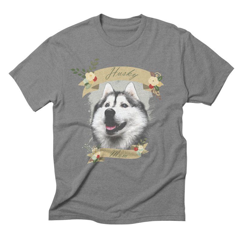 Husky Mom Men's Triblend T-Shirt by Andy's Paw Prints Shop