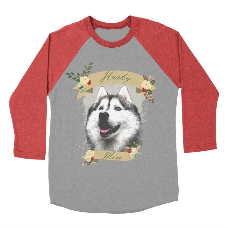 Husky Mom Women's Baseball Triblend Longsleeve T-Shirt by Andy's Paw Prints Shop