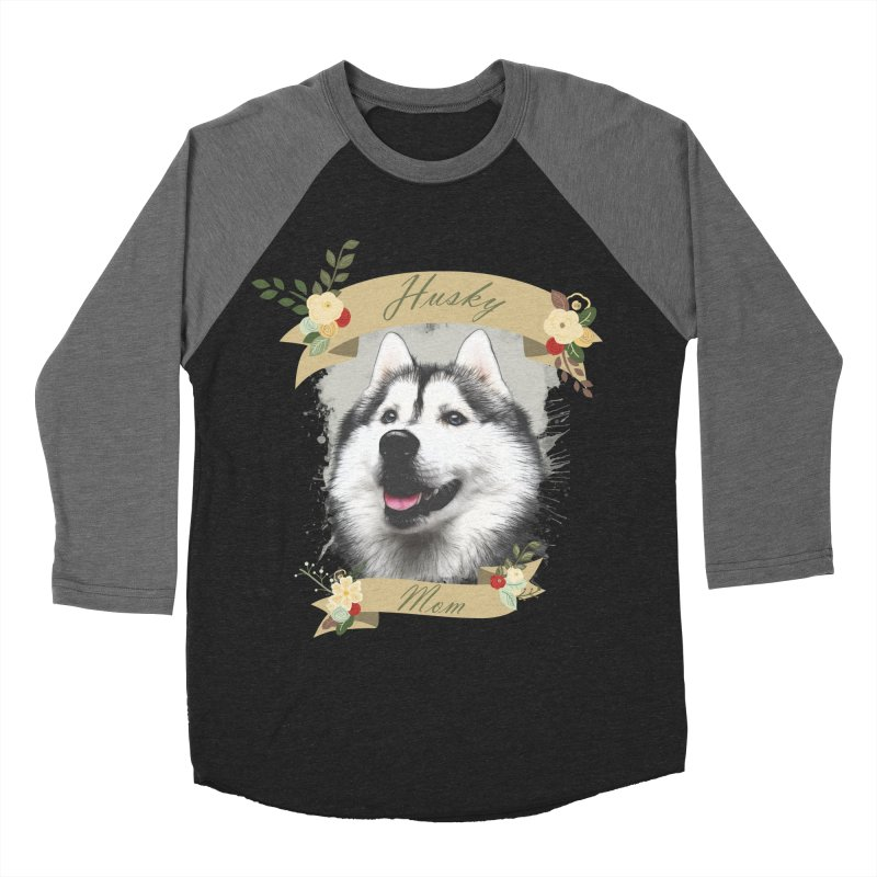 Husky Mom Men's Baseball Triblend Longsleeve T-Shirt by Andy's Paw Prints Shop
