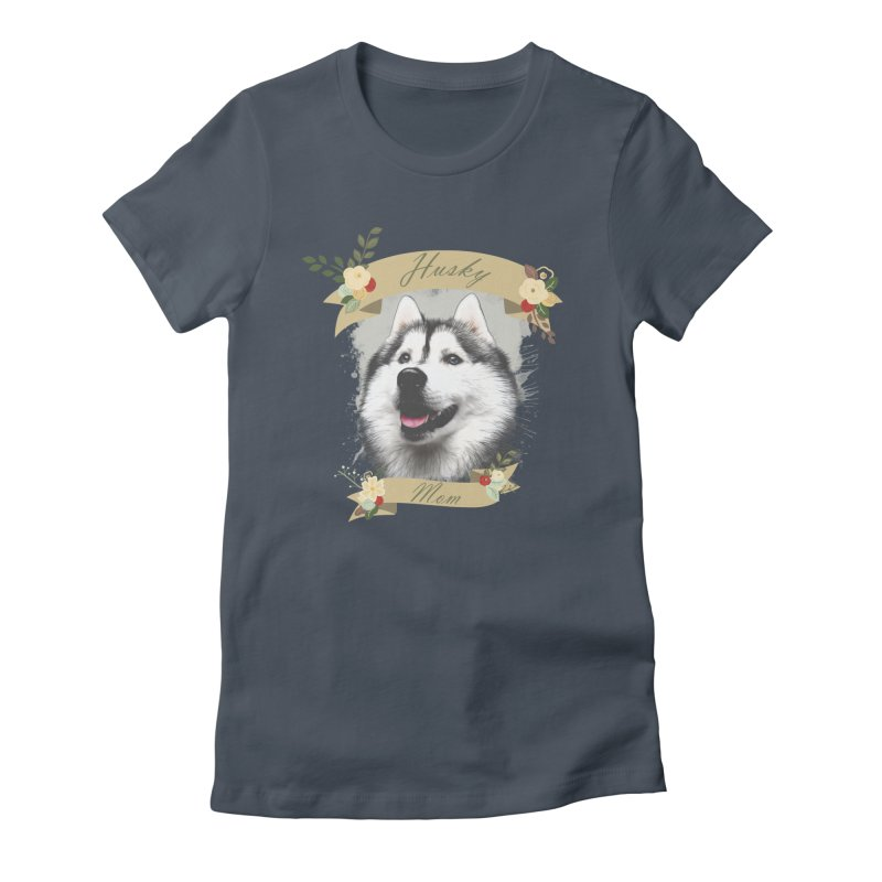 Husky Mom Women's T-Shirt by Andy's Paw Prints Shop
