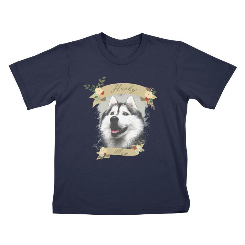 Husky Mom Kids T-Shirt by Andy's Paw Prints Shop