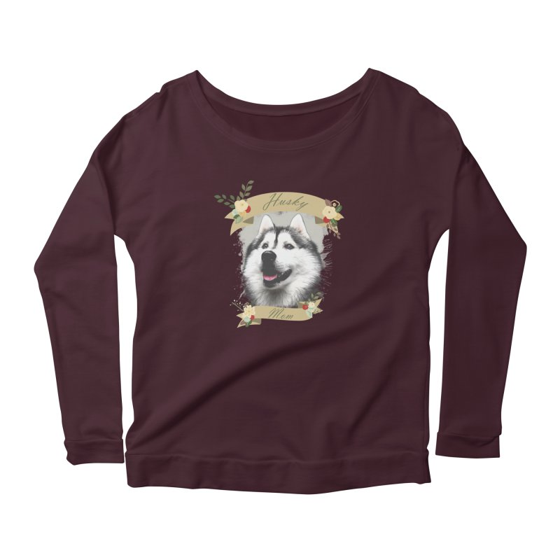 Husky Mom Women's Longsleeve T-Shirt by Andy's Paw Prints Shop