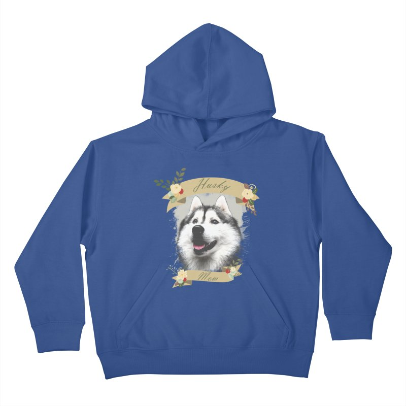 Husky Mom Kids Pullover Hoody by Andy's Paw Prints Shop