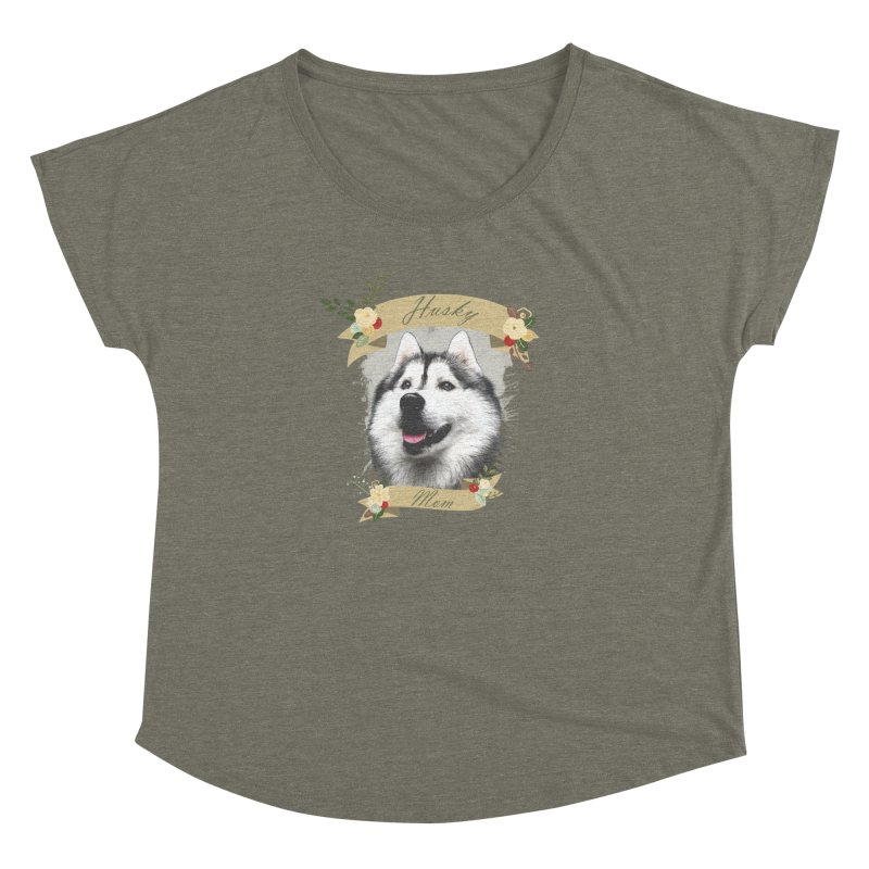 Husky Mom Women's Dolman Scoop Neck by Andy's Paw Prints Shop