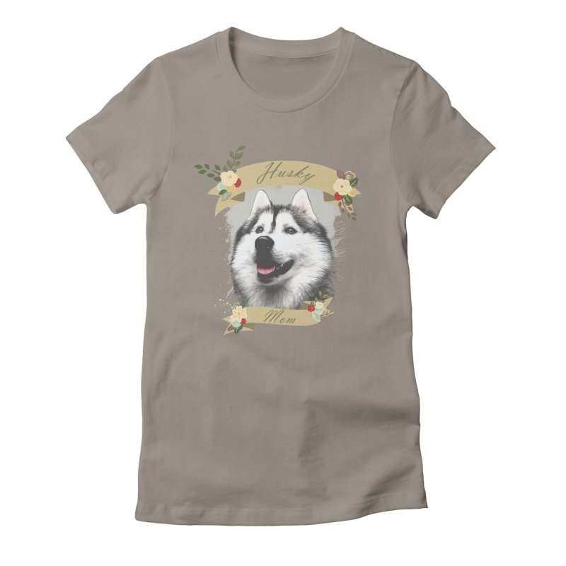 Husky Mom Women's Fitted T-Shirt by Andy's Paw Prints Shop