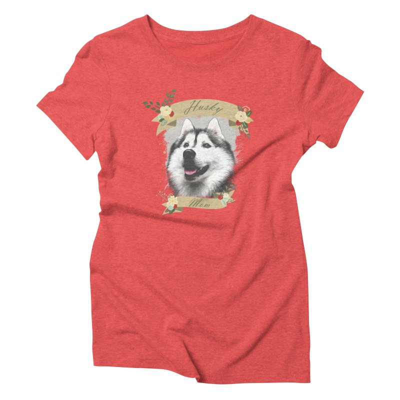 Husky Mom Women's Triblend T-Shirt by Andy's Paw Prints Shop