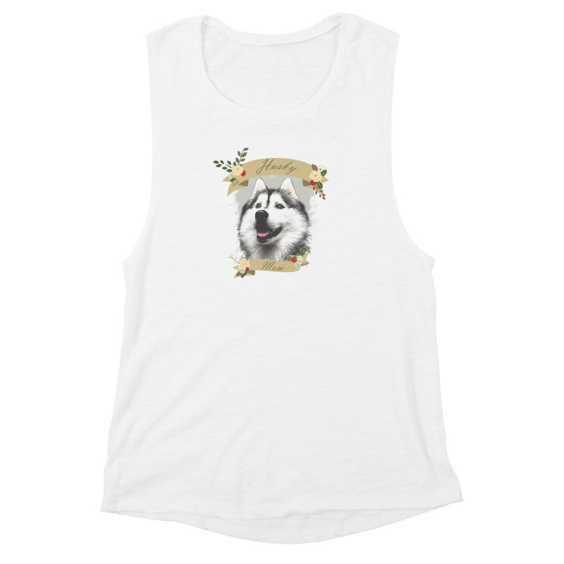 Husky Mom Women's Muscle Tank by Andy's Paw Prints Shop