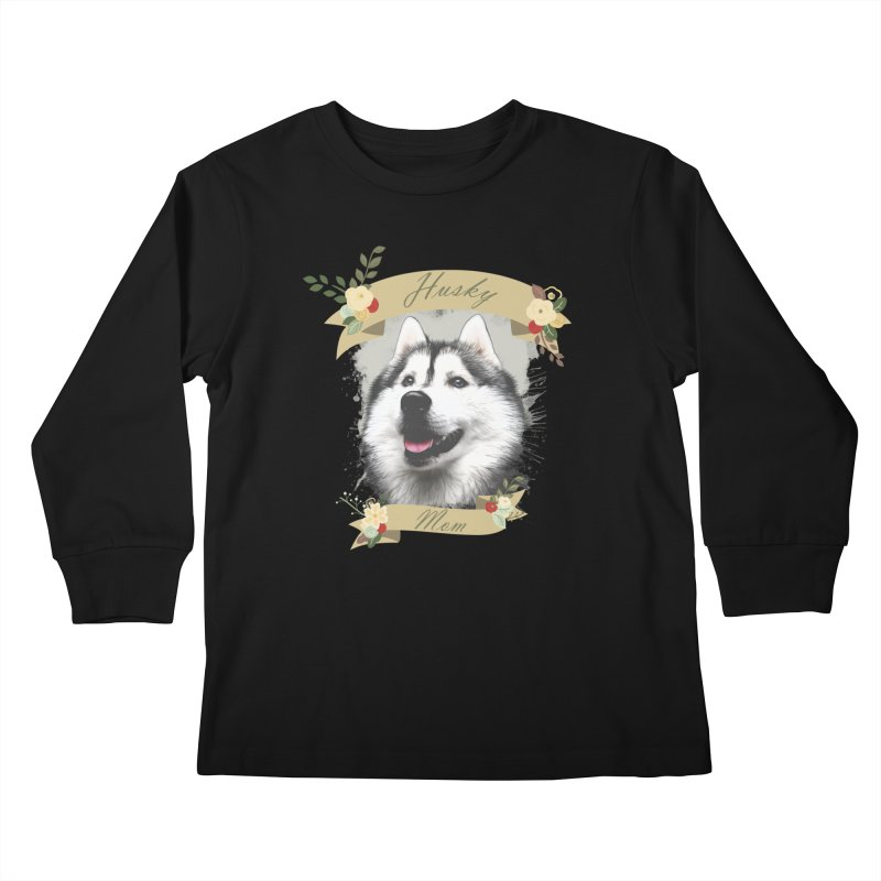 Husky Mom Kids Longsleeve T-Shirt by Andy's Paw Prints Shop