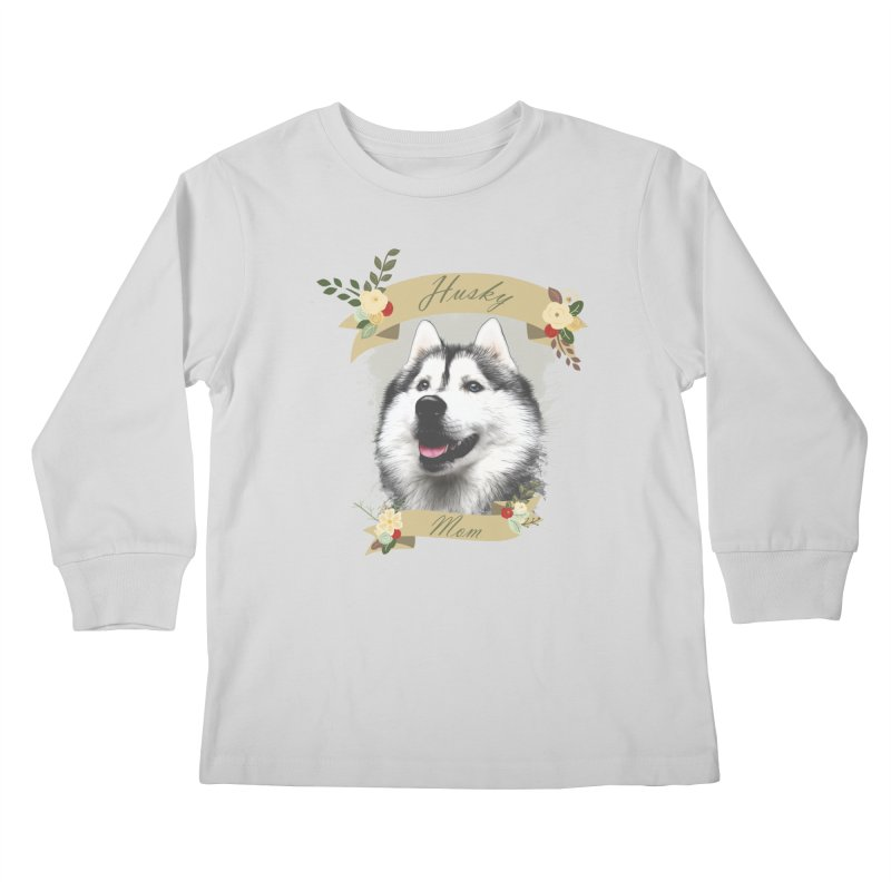 Husky Mom Kids Longsleeve T-Shirt by Andy's Paw Prints Shop