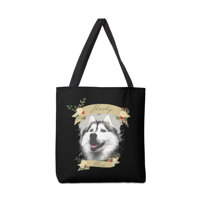 Husky Mom Accessories Tote Bag Bag by Andy's Paw Prints Shop