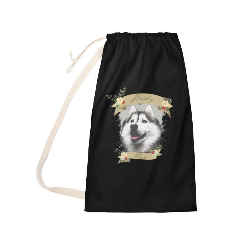 Husky Mom Accessories Laundry Bag Bag by Andy's Paw Prints Shop