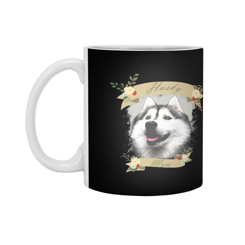 Husky Mom Accessories Mug by Andy's Paw Prints Shop