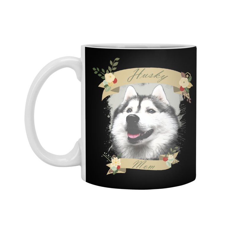 Husky Mom Accessories Standard Mug by Andy's Paw Prints Shop