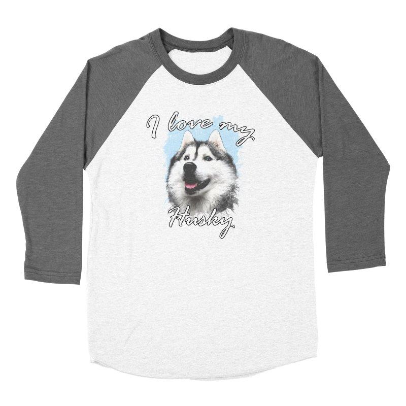 I love my Husky Women's Longsleeve T-Shirt by Andy's Paw Prints Shop