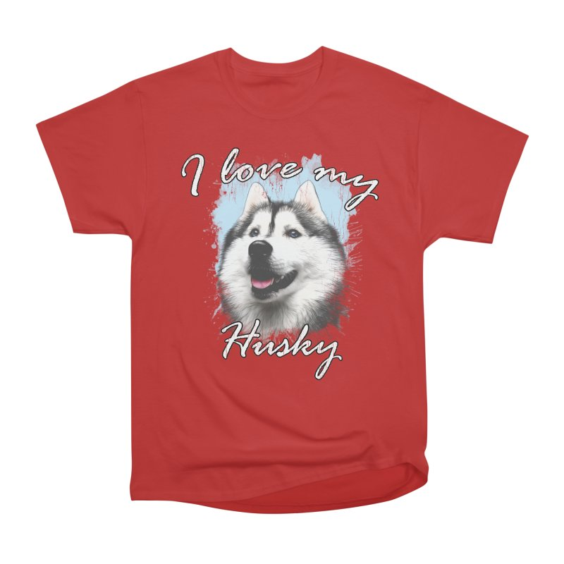 I love my Husky Men's Heavyweight T-Shirt by Andy's Paw Prints Shop