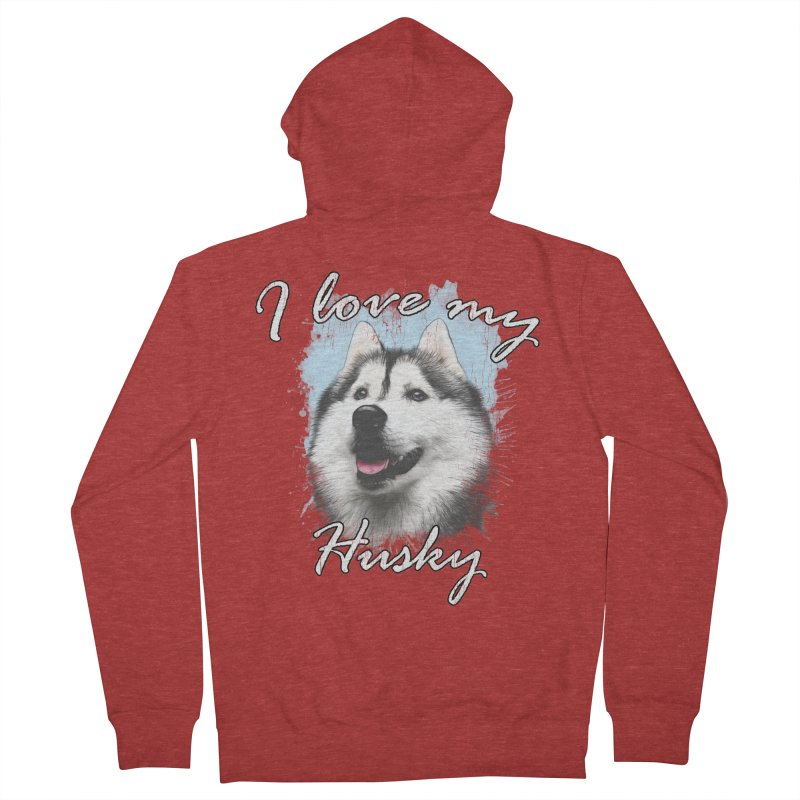 I love my Husky Women's French Terry Zip-Up Hoody by Andy's Paw Prints Shop