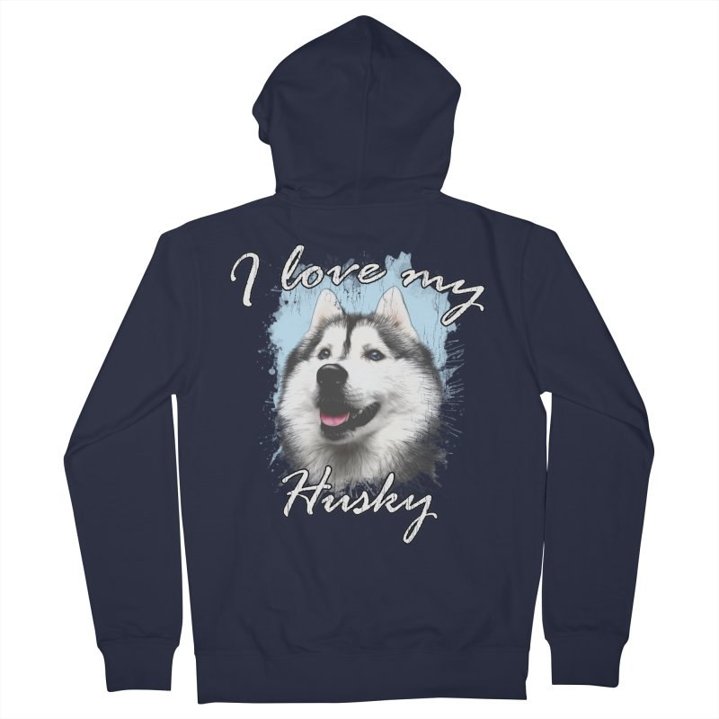 I love my Husky Men's French Terry Zip-Up Hoody by Andy's Paw Prints Shop
