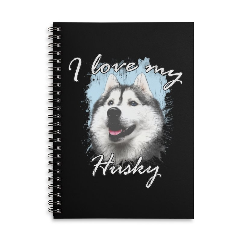I love my Husky Accessories Lined Spiral Notebook by Andy's Paw Prints Shop