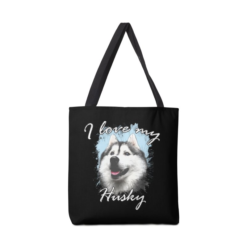 I love my Husky Accessories Tote Bag Bag by Andy's Paw Prints Shop