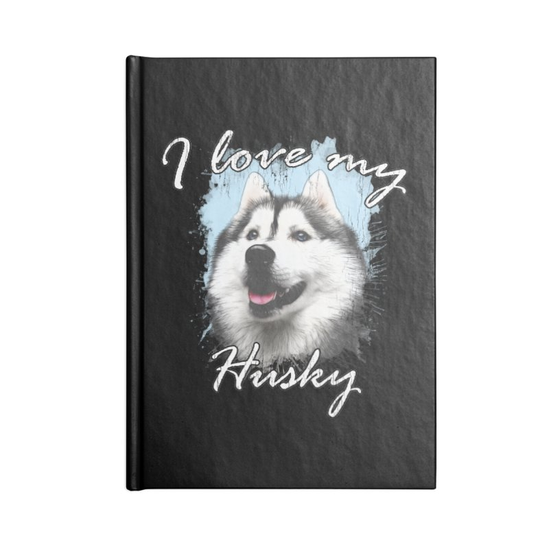 I love my Husky Accessories Blank Journal Notebook by Andy's Paw Prints Shop