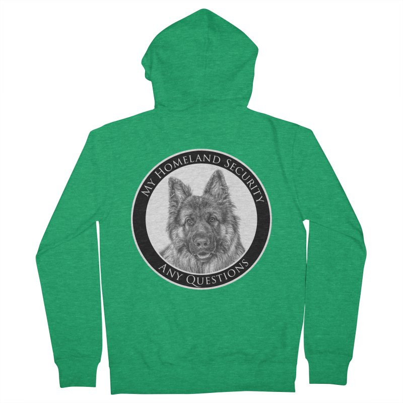 My homeland security Men's Zip-Up Hoody by Andy's Paw Prints Shop