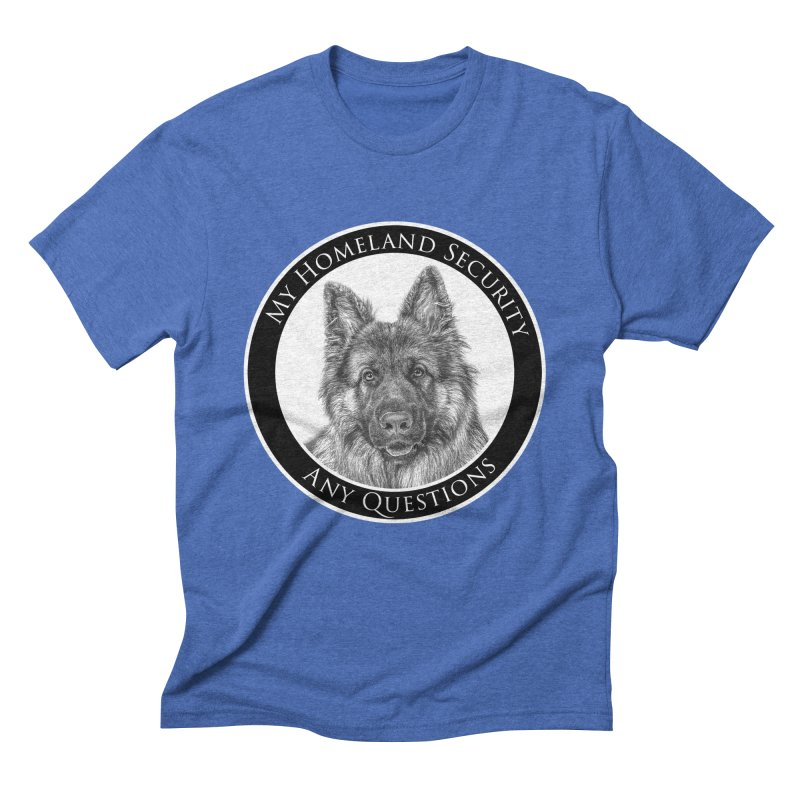 My homeland security Men's T-Shirt by Andy's Paw Prints Shop