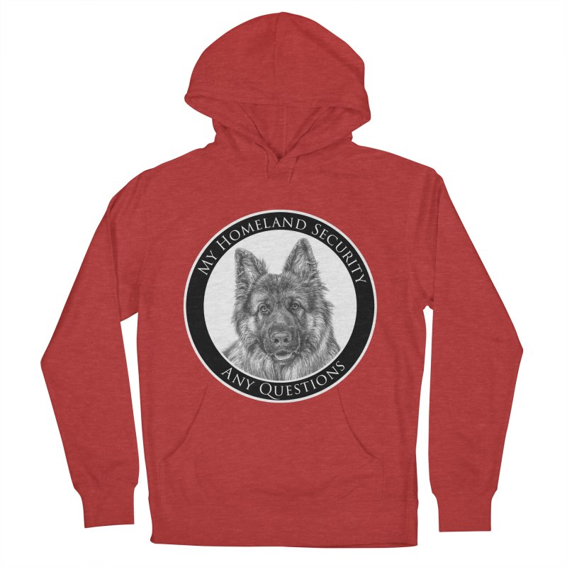 My homeland security Men's French Terry Pullover Hoody by Andy's Paw Prints Shop